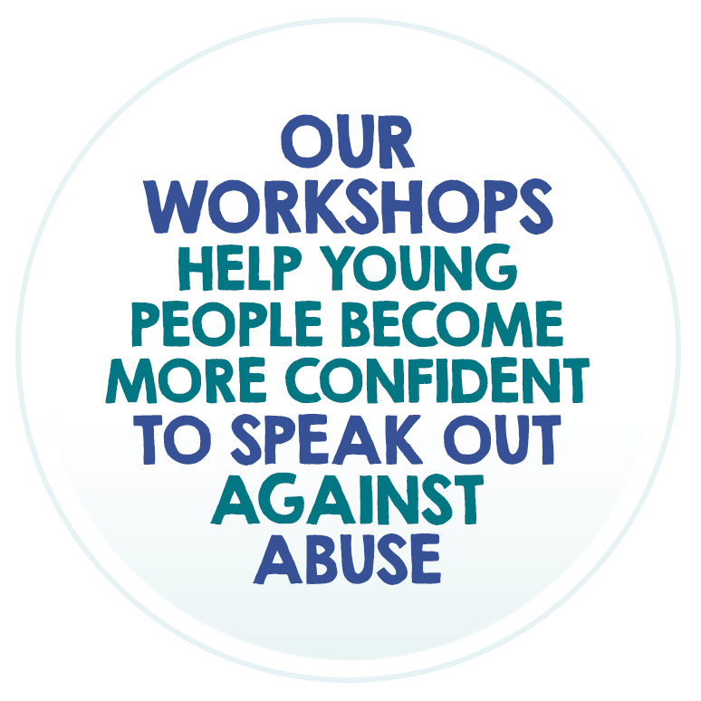 Our workshops help young people become more confident to speak out against abuse.