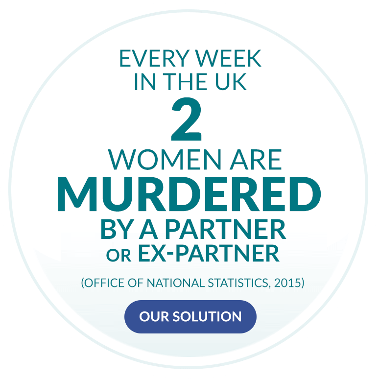 Every week in the UK 2 women are murdered by a partner or ex-partner. (Office of National Statistics, 2015)