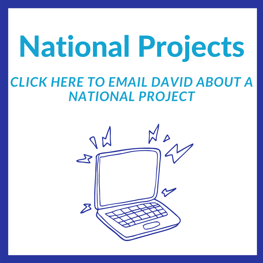 To book a project in one of our National regions, click here to email David